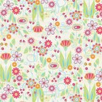 Carolee's Creations - Adornit - Nancy Jane Collection - 12 x 12 Paper - Nancy's Flower Patch, CLEARANCE