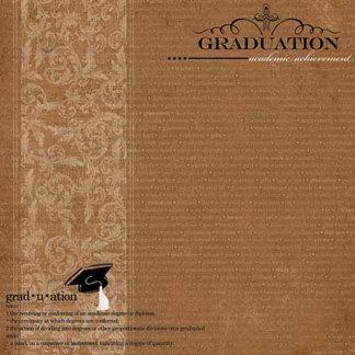 Carolee's Creations - Adornit - Graduation Collection - 12 x 12 Paper - Graduation A