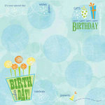 Carolee's Creations - Adornit - Boy Birthday Collection - 12 x 12 Paper - Birthday Wishes Boy