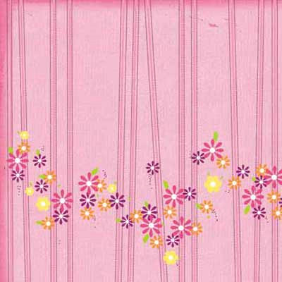 Carolee's Creations - Adornit - Girl Birthday Collection - 12 x 12 Paper - Blossom Stripe