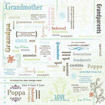 Carolee's Creations - Adornit - Family Hertiage Collection - 12 x 12 Paper - Grandparent's Love