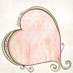 Carolee's Creations - Adornit - Lapreal Collection - 12 x 12 Paper - Journal Heart, CLEARANCE