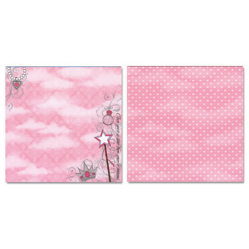 Carolee's Creations - Adornit - Princess Collection - 12 x 12 Double Sided Paper - Once Upon a Time B