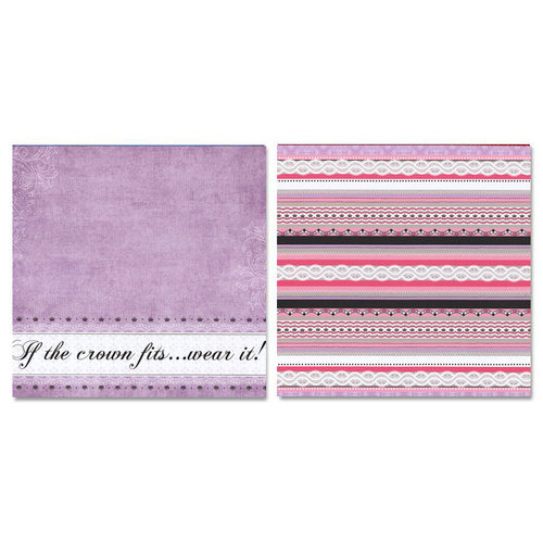 Carolee's Creations - Adornit - Princess Collection - 12 x 12 Double Sided Paper - If The Crown Fits