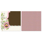 Carolee's Creations - Adornit - Pink Hoot Collection - 12 x 12 Double Sided Paper - Pink Hoot A