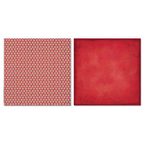 Carolee's Creations - Adornit - Misty Collection - 12 x 12 Double Sided Paper - Blooming Red
