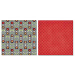 Carolee's Creations - Adornit - Vintage Groove Collection - 12 x 12 Double Sided Paper - Folk Flowers