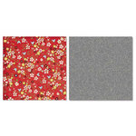 Carolee's Creations - Adornit - Vintage Groove Collection - 12 x 12 Double Sided Paper - Tweet Red