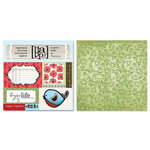 Carolee's Creations - Adornit - Misty Collection - 12 x 12 Double Sided Paper - Nestle