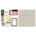 Carolee's Creations - Adornit - Vintage Groove Collection - 12 x 12 Double Sided Paper - Heirloom