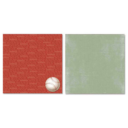 Carolee's Creations - Adornit - Baseball Collection - 12 x 12 Double Sided Paper - Baseball Talk