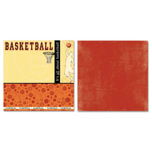 Carolee's Creations - Adornit - Basketball Collection - 12 x 12 Double Sided Paper - All About Basketball