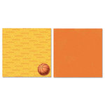 Carolee's Creations - Adornit - Basketball Collection - 12 x 12 Double Sided Paper - Basketball Talk