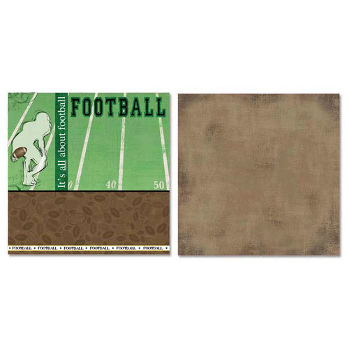 Carolee's Creations - Adornit - Football Collection - 12 x 12 Double Sided Paper - All About Football