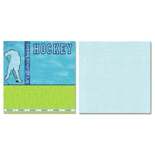 Carolee's Creations - Adornit - Hockey Collection - 12 x 12 Double Sided Paper - All About Hockey