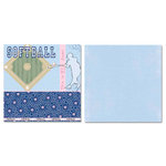 Carolee's Creations - Adornit - Softball Collection - 12 x 12 Double Sided Paper - My Game