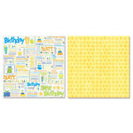Carolee's Creations - Adornit - Boy Birthday Collection - 12 x 12 Double Sided Paper - Boy Birthday Words