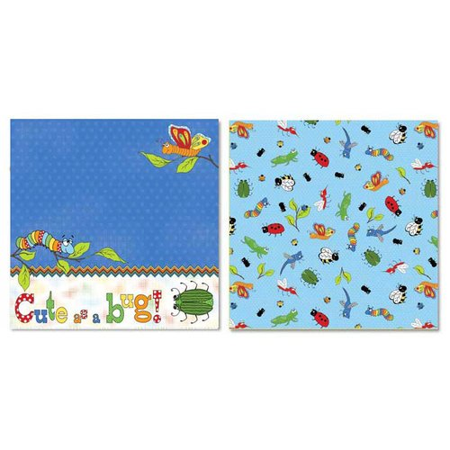 Carolee's Creations - Adornit - Bug a Boo Collection - 12 x 12 Double Sided Paper - Cute as a Bug