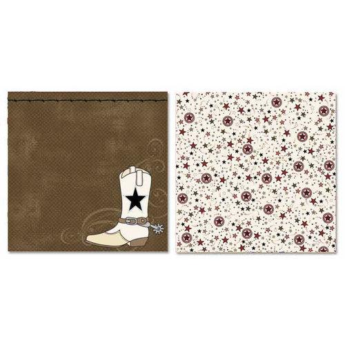 Carolee's Creations - Adornit - Buckaroo Collection - 12 x 12 Double Sided Paper - Buckaroo Boot