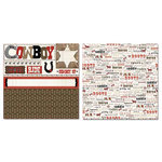 Carolee's Creations - Adornit - Buckaroo Collection - 12 x 12 Double Sided Paper - Cowboy Cut Up