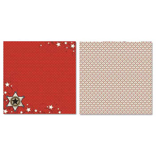 Carolee's Creations - Adornit - Buckaroo Collection - 12 x 12 Double Sided Paper - Cowboy B