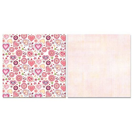 Carolee's Creations - Adornit - Happy Hearts Collection - 12 x 12 Double Sided Paper - Happy Hearts