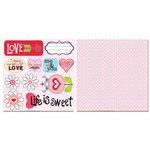 Carolee's Creations - Adornit - Happy Hearts Collection - 12 x 12 Double Sided Paper - Love Cut Apart