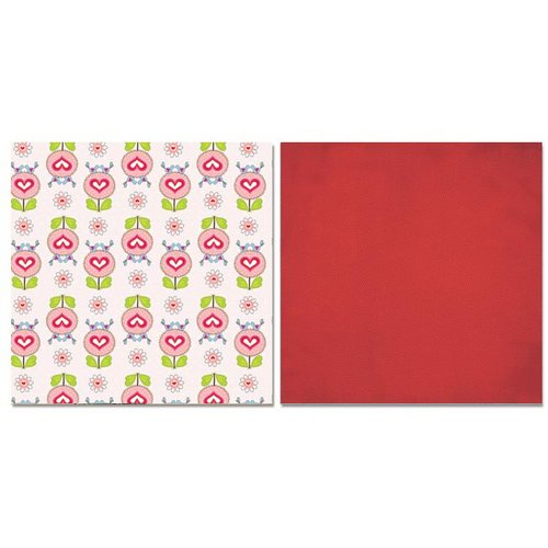 Carolee's Creations - Adornit - Happy Hearts Collection - 12 x 12 Double Sided Paper - Love Birds