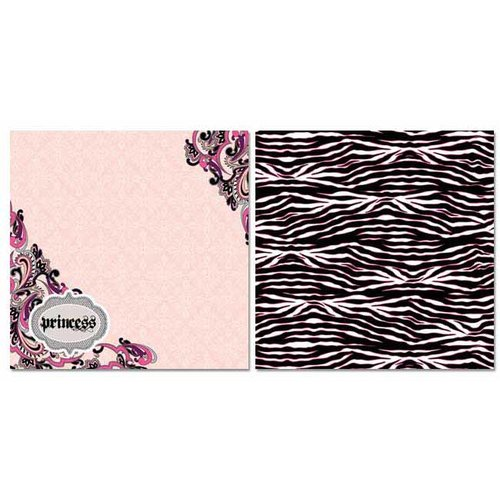 Carolee's Creations - Adornit - Paisley Princess Collection - 12 x 12 Double Sided Paper - Paisley Princess