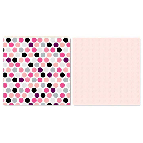 Carolee's Creations - Adornit - Paisley Princess Collection - 12 x 12 Double Sided Paper - Princess Polka Dot