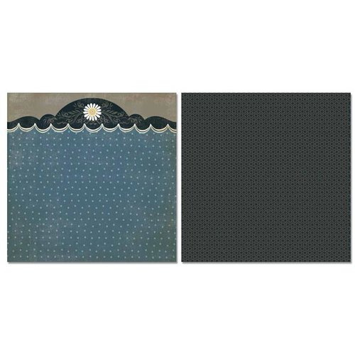 Carolee's Creations - Adornit - Daisy Dew Collection - 12 x 12 Double Sided Paper - Scallop Daisy Trim