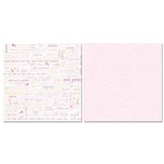 Carolee's Creations - Adornit - Baby Girl Collection - 12 x 12 Double Sided Paper - Girl Proud Parents