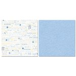 Carolee's Creations - Adornit - Baby Boy Collection - 12 x 12 Double Sided Paper - Boy Proud Parents