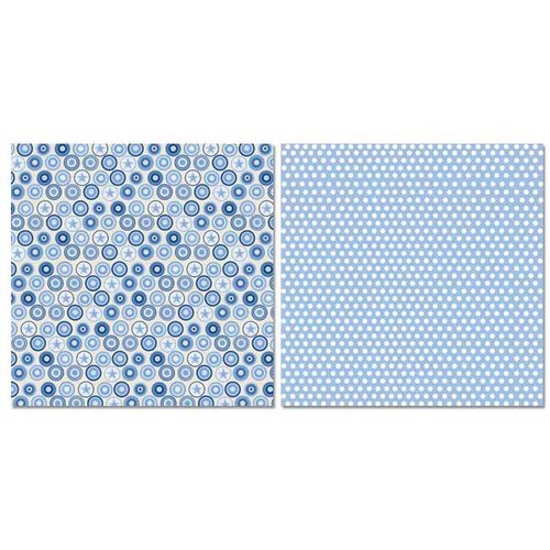 Carolee's Creations - Adornit - Baby Boy Collection - 12 x 12 Double Sided Paper - Bullseye Dots