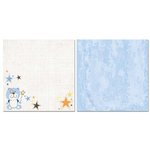 Carolee's Creations - Adornit - Baby Boy Collection - 12 x 12 Double Sided Paper - Stuffy Bear