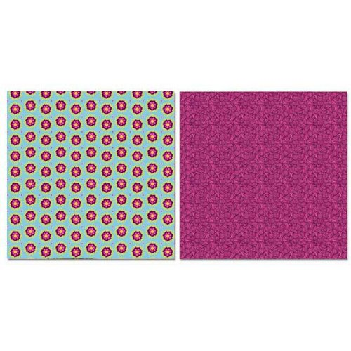 Carolee's Creations - Adornit - Pink Dazzled Collection - 12 x 12 Double Sided Paper - Corn Flower Scatter