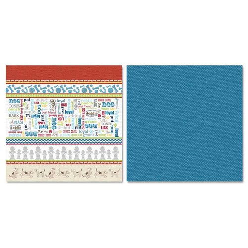 Carolee's Creations - Adornit - Doggie Life Collection - 12 x 12 Double Sided Paper - Doggy Stripe Cut Apart
