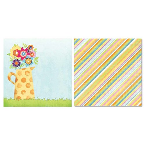 Carolee's Creations - Adornit - Easter Collection - 12 x 12 Double Sided Paper - Watering Can