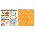 Carolee's Creations - Adornit - Garden Fun Collection - 12 x 12 Double Sided Paper - Outside Cut Apart