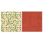 Carolee's Creations - Adornit - Garden Fun Collection - 12 x 12 Double Sided Paper - Scattered Veggies