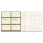 Carolee's Creations - Adornit - Garden Fun Collection - 12 x 12 Double Sided Paper - Recipe Cards