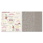 Carolee's Creations - Adornit - Charmed Collection - 12 x 12 Double Sided Paper - Mother Word Play