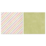 Carolee's Creations - Adornit - Remember When Collection - 12 x 12 Double Sided Paper - Keepsake Stripe