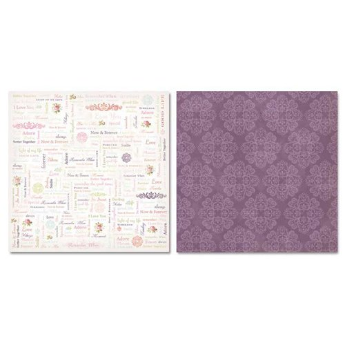 Carolee's Creations - Adornit - Remember When Collection - 12 x 12 Double Sided Paper - Remember When Word Play