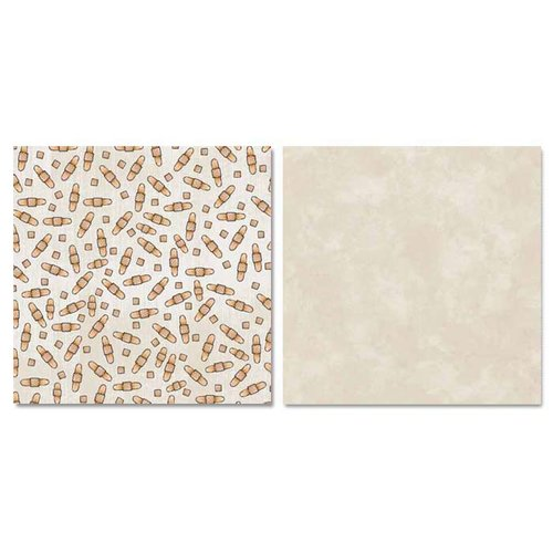 Carolee's Creations - Adornit - Ouch Collection - 12 x 12 Double Sided Paper - Band Aid Scatter