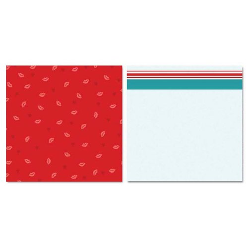 Carolee's Creations - Adornit - Ouch Collection - 12 x 12 Double Sided Paper - Kisses
