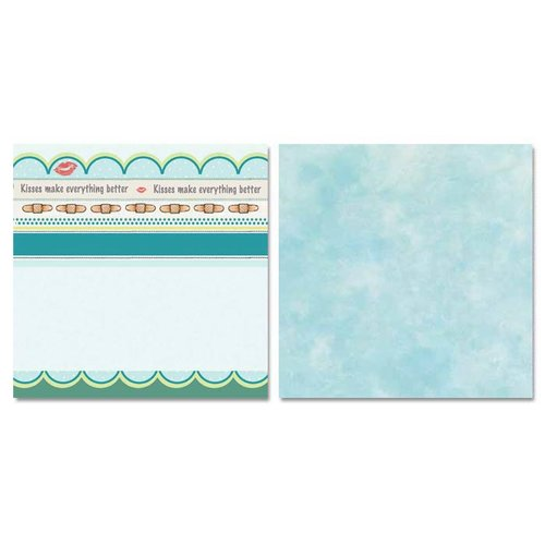 Carolee's Creations - Adornit - Ouch Collection - 12 x 12 Double Sided Paper - All Better Stripe