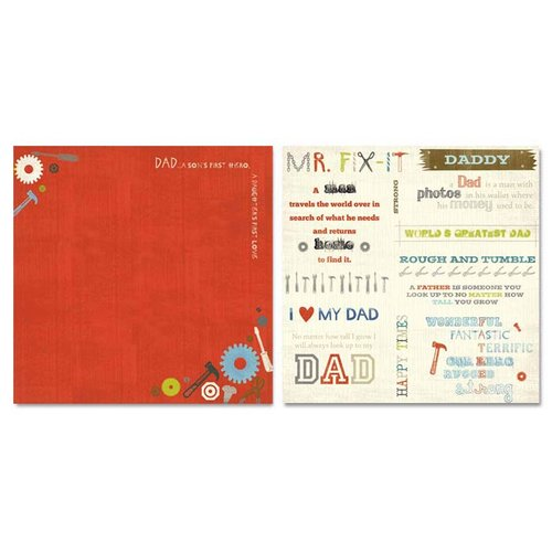 Carolee's Creations - Adornit - Father Collection - 12 x 12 Double Sided Paper - Father Cut Apart