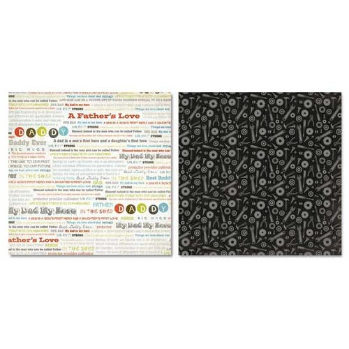Carolee's Creations - Adornit - Father Collection - 12 x 12 Double Sided Paper - Father Word Play