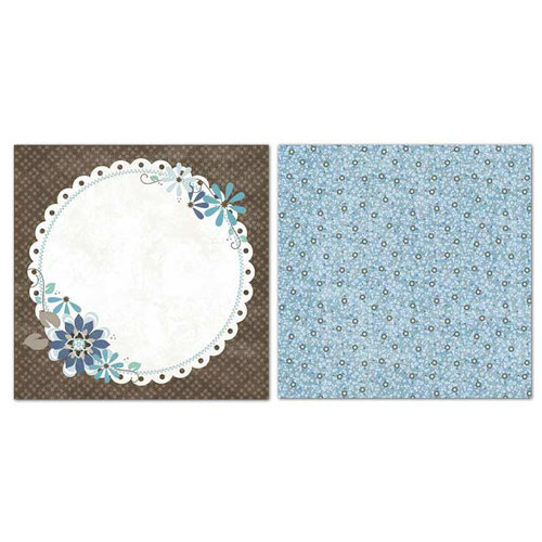 Carolee's Creations - Adornit - Capri Taupe Collection - 12 x 12 Double Sided Paper - Meadow